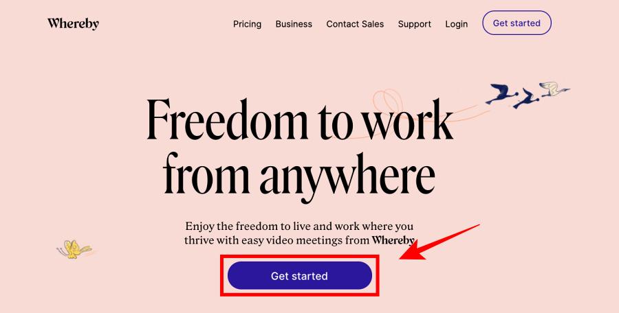 Whereby(ウェアバイ)の登録方法